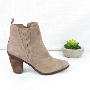 FERGIE SUEDE ANKLE BOOTS